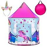 USA Toyz Unicorn Kids Play Tents for Girls and Boys - Unicorn Playhouse Pop Up Princess Tent w/...