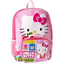 FAB Starpoint Girls 2-6X Hello Kitty Backpack with Lunch, White/Pink Multi, One Size