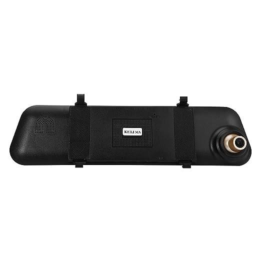 SJ-M058 720P 2.0MP - Cámara de espejo retrovisor DVR para coche, 170 grados, color negro y dorado: Amazon.es: Electrónica