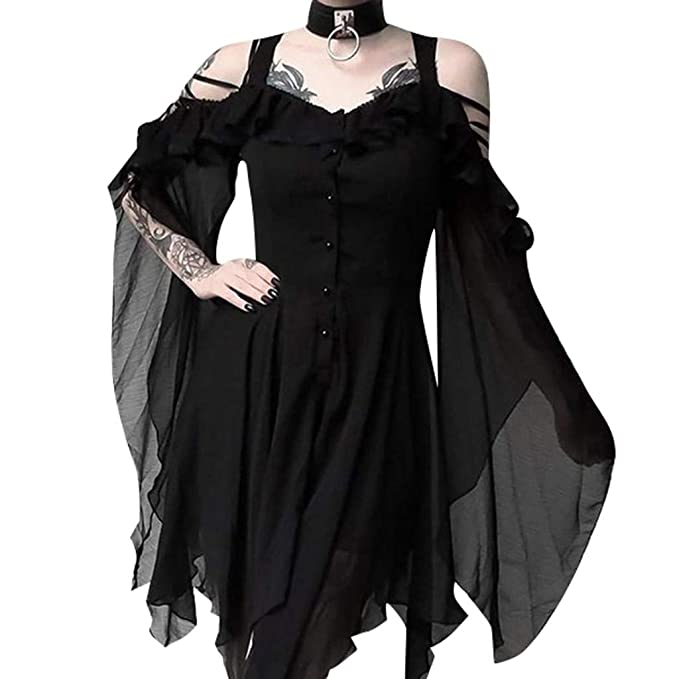 Amazon.com: ☆HebeTop Women\'s Plus Size Gothic Dresses for ...