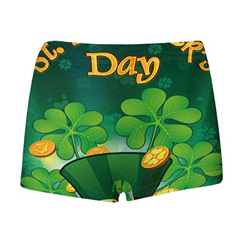 INTERESTPRINT Boys' Saint Patric Days Plawith Hat, Clover and Treasure Boxer Briefs M -