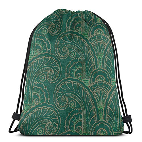 Acanthus Moderne 1c_1303 Drawstring Backpack Gym Spacious Pull String Backpack for Sport School Traveling Gym Basketball Yoga 13x18 inch13x18 inch