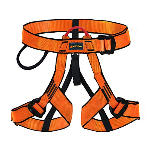 kissloves Half Body Climbing Harness Outdoor Rock Climbing Momentum Harness for Fire Rescue Working on The Higher Level Caving Rock Climbing Rappelling Equip (Orange) ()
