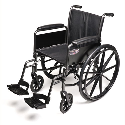 Graham-Field 3F010140 Portable Wheelchair, 18 in Wide Seat , 18