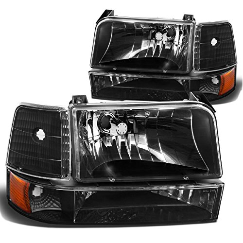 96 Grille Assembly Bronco Ford (DNA MOTORING HL-OH-F15092-6P-BK-AM Headlight Assembly, Driver & Passenger Side)