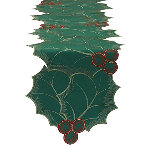 DII Christmas Holiday Embroidered Runner
