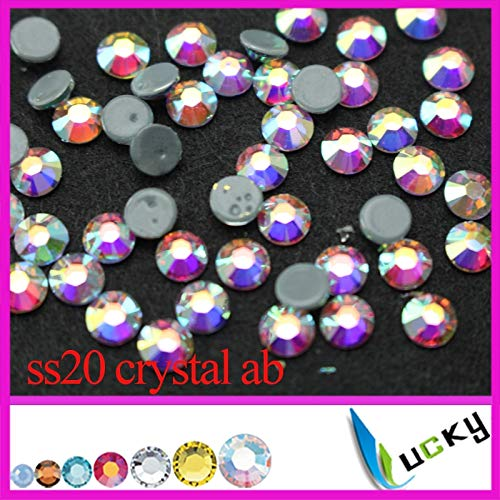 (ASTONISH Top quality flat back rhinestones hotfix!1440pcs ss20 crystal ab color most similar to 2038 7 big+7 small face cut: ss6 1440pcs)