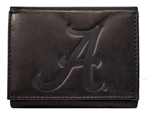 Rico Alabama Crimson Tide NCAA Embossed Logo Black Leathe...
