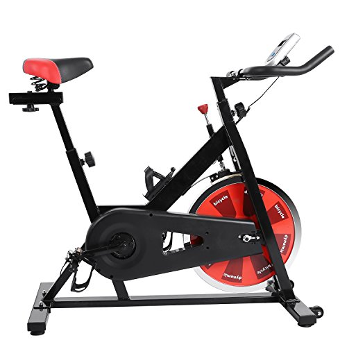 YUEBO Pro Indoor Cycling Bike, Magnetic Cycling Trainer Exercise Bicycle (40 lb Flywheel, S-1000) (Black and Red)