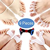 Orthopedic Bunion Corrector for Women Men & Bunion Relief Protector Sleeves Kit - Relieve Hallux Valgus Foot Pain, Soothe Sore Bunions, Big Toe Joint (5 Pairs:(9 pcs))