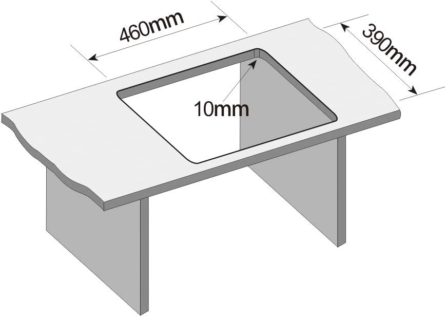 18.5cm en Acier 304 Inoxydable pour des Caissons de 50 cm de Large Minimum avec Siphon et Trop-Plein Evier noir 43cm CECIPA /Évier de Cuisine 1 Bac Noir 50cm