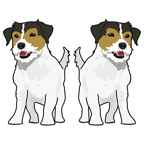 Russel Terrier Jack (SignMission Jack Russel Terrier Decal | Indoor/Outdoor | Dog Lover Super Cute Sticker for SUV Windows, Dorm Rooms, Bedroom, Offices personalized gift | 2 Pack of 6)