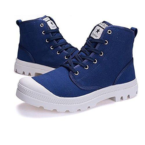 uomo Blu Autunno 40 Top Estate Stringate Canvas fino Outsole Large Size alla antiscivolo 2018 donna Sneaker 47EU EU taglia Shoes Color High e moda Dimensione wIqf1dq