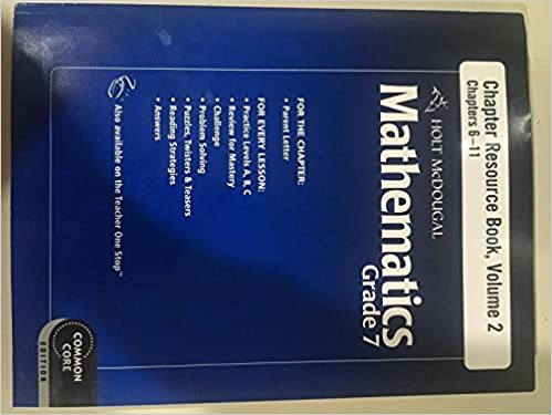 Amazon com: Holt McDougal Mathematics: Resource Book with