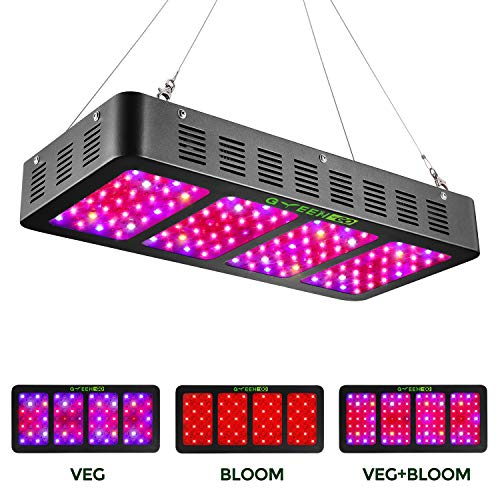 1200w LED Grow Light with Veg&Bloom Switch,GREENGO 3 Chips LED Plant Grow Lamp Full Spectrum with Daisy Chain for Indoor Plants Veg and Flower (LED Grow Light)]()