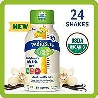 24-Count 8 fl oz PediaSure Organic Kid's Nutrition Shake (Vanilla)