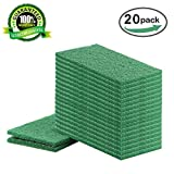 Homsolver Heavy Duty Multi-Use General Purpose Cleaning Scouring Pad - Non-Scratch Magic Eraser Sponge - Scrubbing Dish Sponges Use for Kitchens, Bathroom, Car & Odor Free - 20 pack