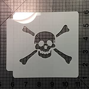 Skull and Crossbones Stencil 103 (4 Inches)