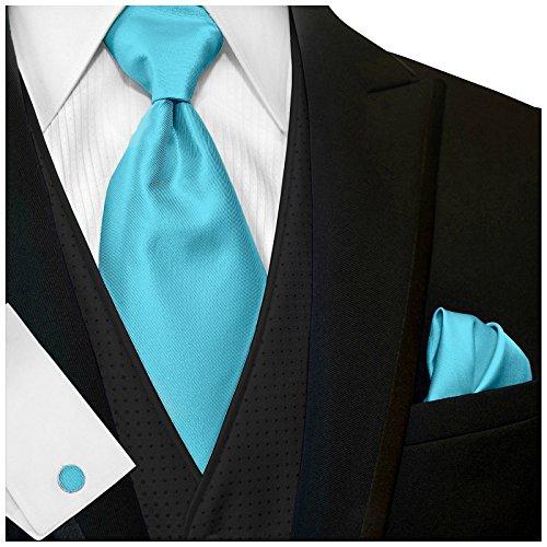 GASSANI Turquoise Men's Wide 4