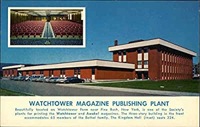 Watchtower Magazine Publishing Plant Pine Bush, New York Original Vintage Postcard