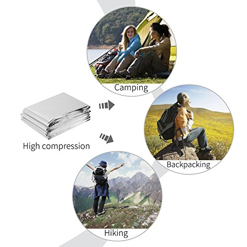 OUTAD Waterproof Emergency Blanket for Outdoor Survival Thermal First Aid (20pcs)