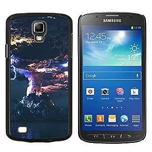 Erupción volcánica- Metal de aluminio y de plástico duro Caja del teléfono - Negro - Samsung i9295 Galaxy S4 Active / i537 (NOT S4)