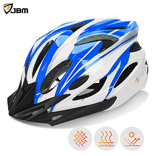 JBM Adult Cycling Bike Helmet Specialized for Mens Womens Safety Protection Red / Blue / Yellow