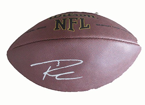 Bowl Super Autographed Nfl (Russell Wilson Autographed Wilson NFL Football W/PROOF, Picture of Russell Signing For Us, Seattle Seahawks, Wisconsin Badgers, Super Bowl Champs, Colorado Rockies)