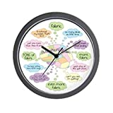CafePress – Quilters Brain – Unique Decorative 10″ Wall Clock