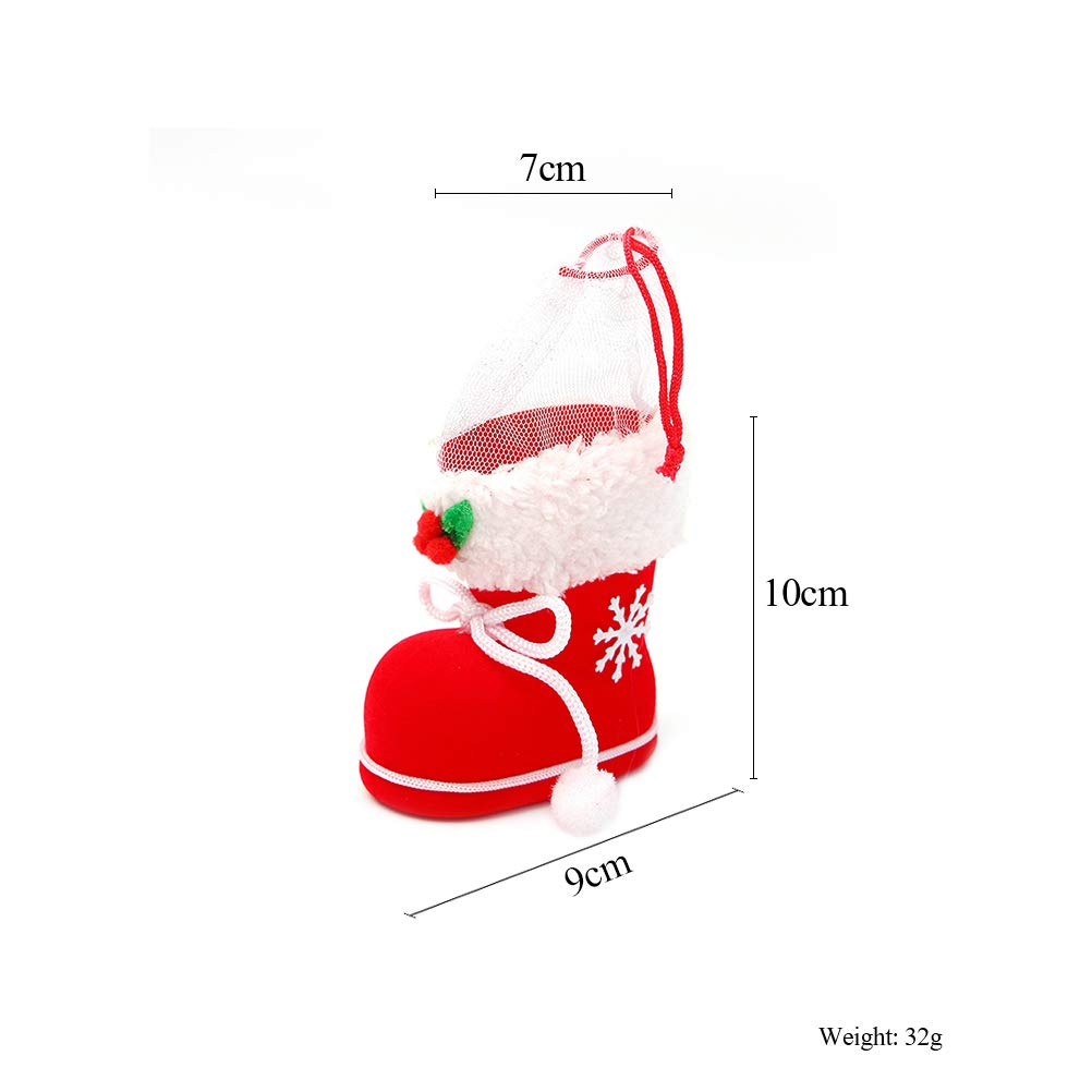 10 pcs Christmas Party Bags Bell Sweets Carrier Favour Candy Xmas Gift Boxes New