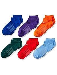New Balance Big Boy's 6 Pack No Show Atheltic Socks
