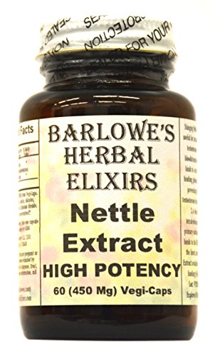 Stéarate d'extrait - 60 450 mg VegiCaps - High Potency ortie libre, mis en bouteille en verre