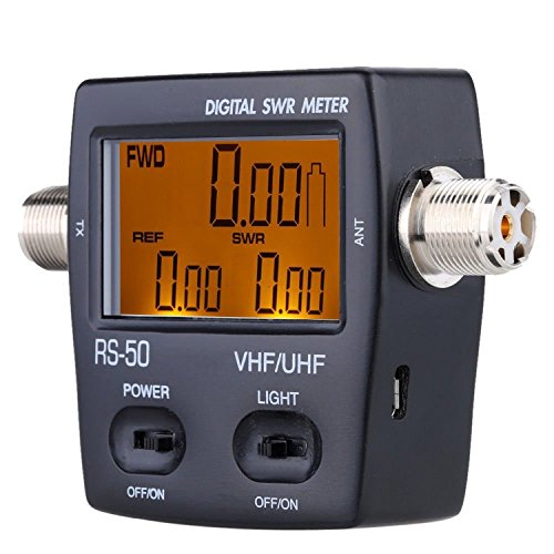 l USB Port or Battery Operated LCD Digital SWR (Standing-Wave Meter) & Po4wer Meter VHF 125-525MHZ 120W for 2 Way Radios ()