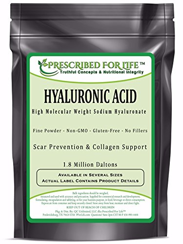Hyaluronic Acid - Natural Food Grade Sodium Hyaluronate (HA) Powder - High Molecular Weight 1.8 mil Daltons, 12 oz by Prescribed For Life