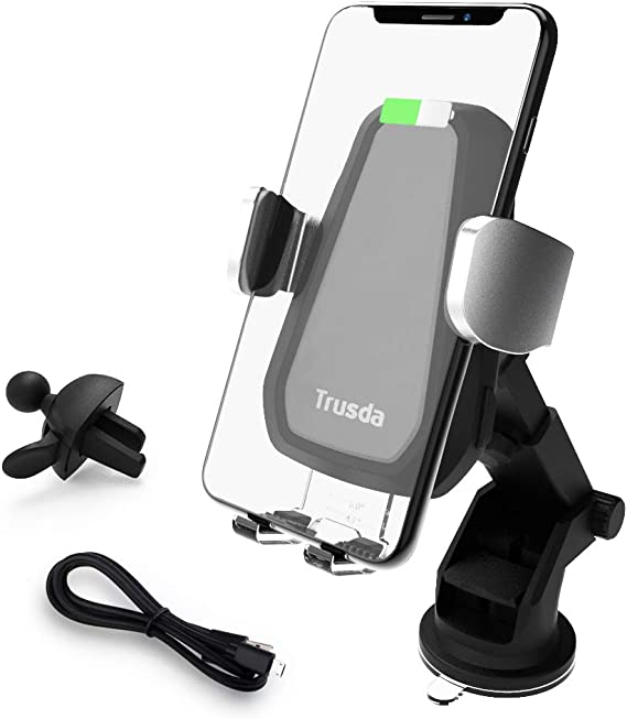 Wireless Fast Charger Car Mount Air Vent Phone Holder Compatible iPhone Xs MAX//XR//XS//X//8//8 Plus Samsung Galaxy S9//8//7//Note 8//9 and All Qi-Enabled Phones Wireless Car Charger