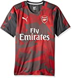 PUMA Men's Arsenal FC Stadium Jersey EPL With Sponsor Logo, Dark Shadow/Chili Pepper, X-Large