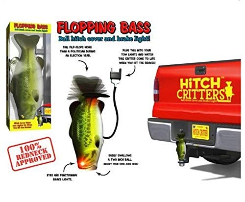 Hitch Critters 3492 Flopping Bass Moving Ball Hitch Cover and Brake Light by Hitch Critters