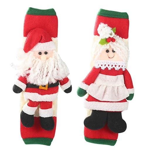 2 piezas Refrigerador Manijas de puerta Cubiertas Navidad Patrón ...