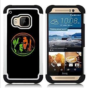 BullDog Case - FOR/HTC ONE M9 / - / COMICS CHARACTER Z HERO VILLAIN BLACK /- H??brido Heavy Duty caja del tel??fono protector din??mico - silicona suave