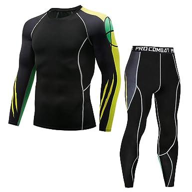 Amazon.com: Mens Compression suit Pants Shirts Set Sport ...