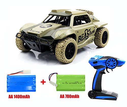 High-speed RC Car,1/18 Scale armoured off-road vehicles, Electric 4WD outdoors entertainment Drift stunt Racing Truck with 2 Ni-CD Battery (Camouflage)