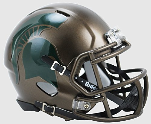 Michigan State Spartans Riddell Speed Mini Replica Bronze Football Helmet (State Riddell Mini Replica)