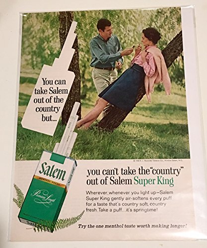 1968 Salem You Can't Take The Country Out Of Cigarette Magazine Print Advertisement