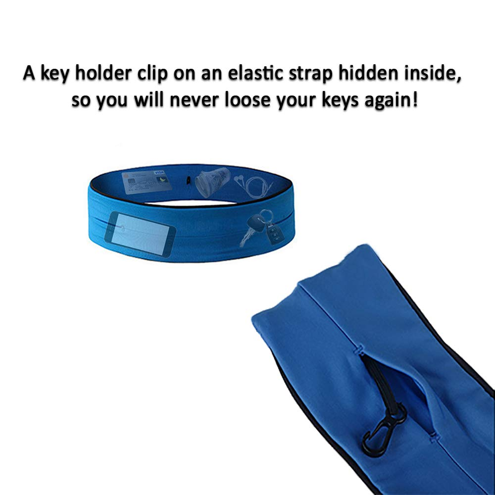 Yoga Hiking Jogging Cycling CLASSIC Flip Running Belt for Men /& Women Sports /& Other Activities Hands-Free Storage Fits All Mobile Phones, Devices, Gels, Keys, Money /& More Perfect for Running