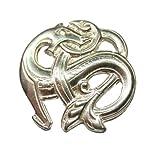 Sterling Silver Scandinavian Norse 2 Serpent Brooch/Pin