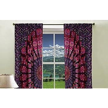 Amazon Com Boho Living Room Curtains Bohemian Curtains