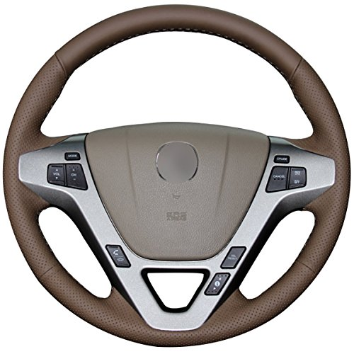 Loncky Genuine Leather Auto Custom Steering Wheel Covers