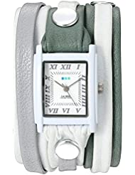 La Mer Collections Womens Quartz Stainless Steel and Leather Watch, Multi Color (Model: LMLWMIX2510)