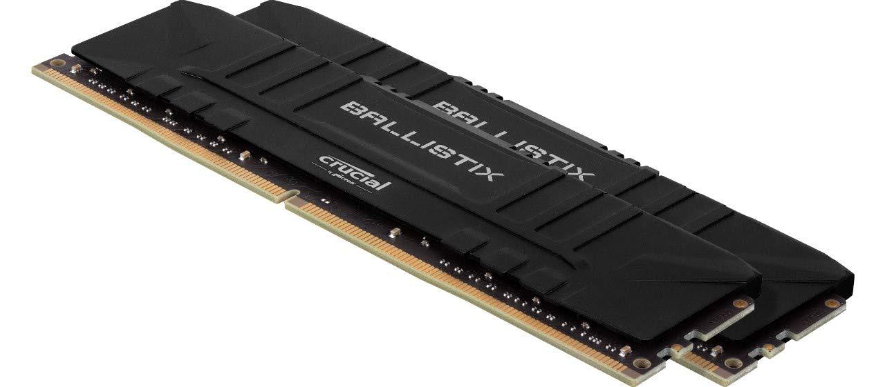 4GB x2 Memoria Gamer para Ordenadores de sobremesa CL16 DRAM 8GB Crucial Ballistix BL2K4G24C16U4B 2400 MHz DDR4 Negro