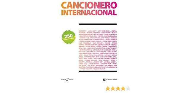 CANCIONERO - Cancionero Internacional 250 Letras y Acordes para Guitarra: Amazon.es: CANCIONERO: Libros